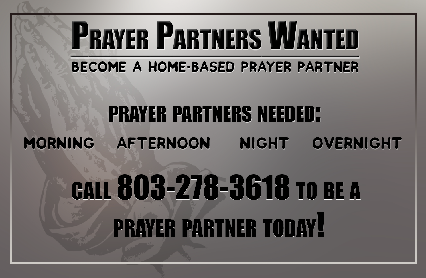 Prayer Partner | Watchmen Broadcasting