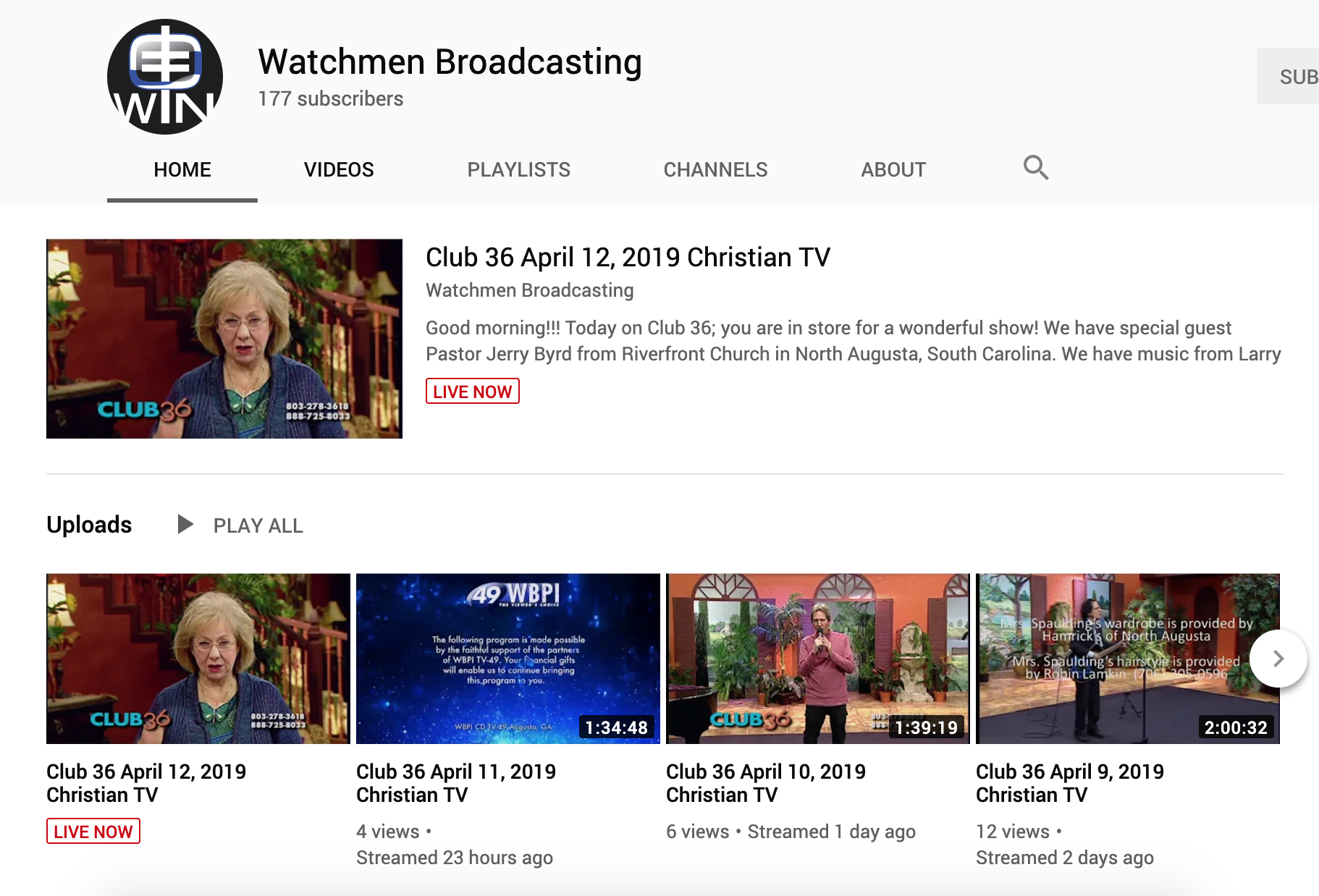 Youtube Screenshot | Watchmen Broadcasting